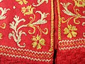 Informal woman's jacket detail, Italy, 1630-1650, knitted silk yarn - Patricia Harris Gallery of Textiles & Costume, Royal Ontario Museum - DSC09365.JPG