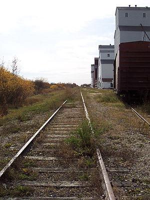 Inglis, Manitoba - The Inglis Grain Elevators, a national historic site.