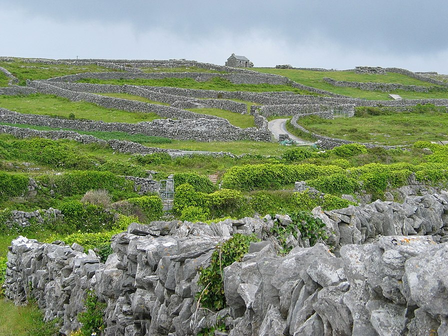 Dry Stone Walls on Inisheer (Inis Oírr), Ireland.
