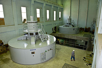 Energy in Afghanistan - Inside the power station at the Kajaki Dam in the southern Helmand Province of Afghanistan.