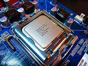 LGA 775 - Intel Pentium E5200 CPU installed into LGA 775 socket
