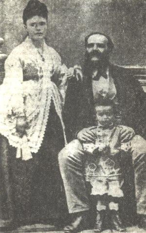 Ioannis Metaxas with parents