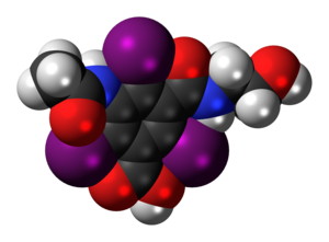 Ioxitalamic acid - Image: Ioxitalamic acid 3D spacefill