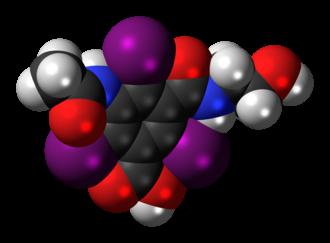 Ioxitalamic acid - Image: Ioxitalamic acid 3D spacefill