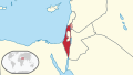 Israel in its region (de-facto details).svg