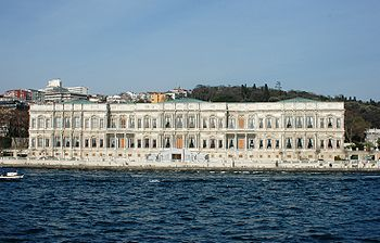 Çırağan Palace seen from Bosporus