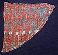 Italia, tessuto per arredo in tela di lino lanciata, con lana e cotone, 1410 ca. 01.jpg