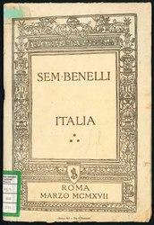 Sem Benelli: Italia : orazione detta la sera del 13 marzo del 1917 al Teatro Adriano in Roma