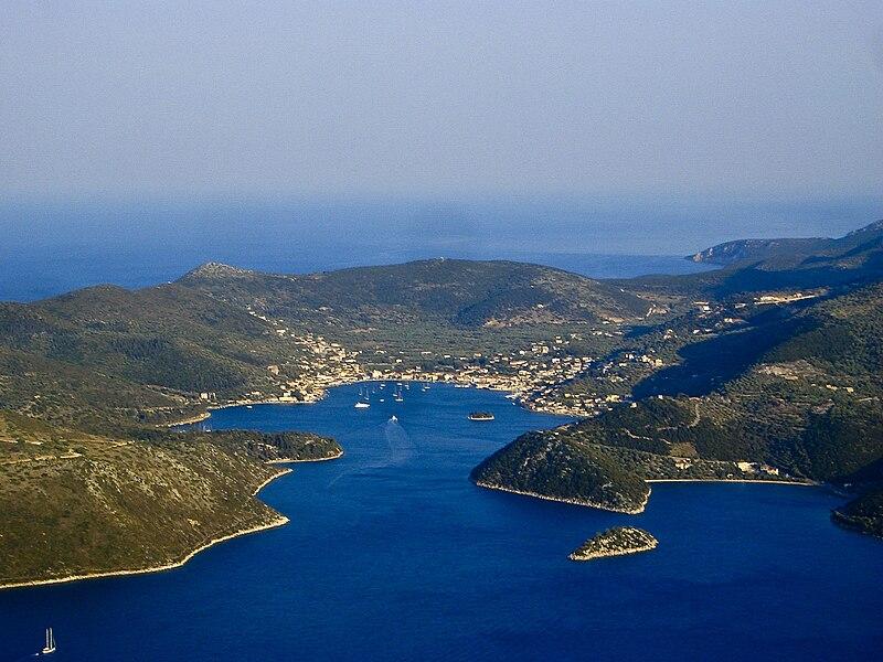 Vista de la isla de Ítaca