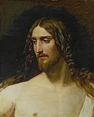 The Appearance of Christ Before the People - Image: Ivanov Head of Christ 1824 gtg 17647