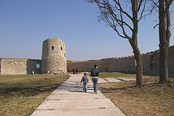 Inside the fortress of Izborsk