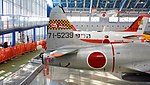 JASDF T-33A(71-5239) aft huselage section right side top view at Hamamatsu Air Base Publication Center November 24, 2014.jpg