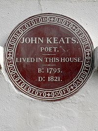 JOHN KEATS POET LIVED IN THIS HOUSE B 1795 D 1821.jpg