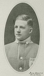 A young Jack Adams during his playing days with the Toronto Arenas