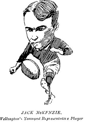 Jock McKenzie (rugby union) - A caricature of McKenzie from 1909