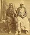 Jack and Abby Landlord, aged one hundred and one hundred and ten years, by Havens, O. Pierre, 1838-1912 (cropped).jpg