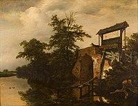 Jacob Isaaksz. van Ruisdael - Het verlaat (de schutsluis) - 0433 - Rijksmuseum Twenthe.jpg
