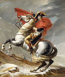 Napoleon crossing the alps wikipedia for Napoleon horse painting