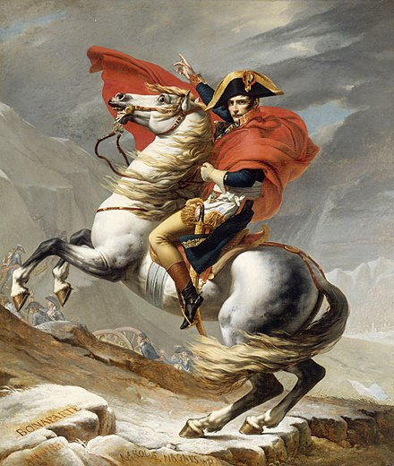First Versailles version Jacques Louis David - Bonaparte franchissant le Grand Saint-Bernard, 20 mai 1800 - Google Art Project.jpg