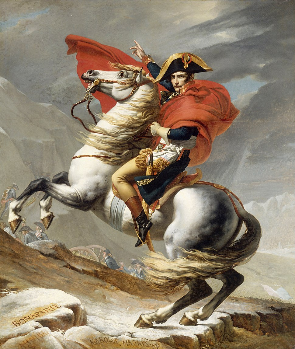 Jacques Louis David - Bonaparte franchissant le Grand Saint-Bernard, 20 mai 1800 - Google Art Project