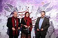 Jahangir Kosari, Mahtab Keramati and Nezamoddin Kiaie Opening of the 32nd Fajr Film Festival (13921111194610385).jpg