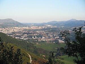 Gipuzkoa - San Sebastian and Pasaia flanked at either side by Mounts Jaizkibel and Larrun