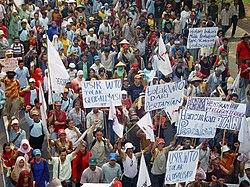 Manifestation de fermiers à Djakarta