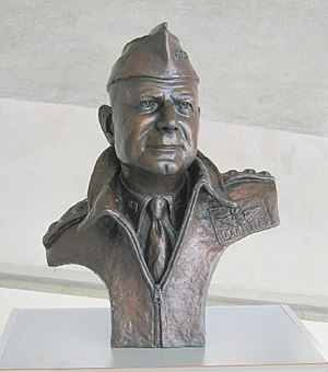 Jimmy Doolittle - Bust of General Doolittle at the Imperial War Museum, Duxford