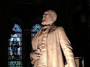 James A. Garfield Memorial - Statue of President Garfield at memorial
