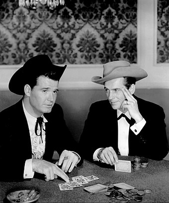 James Garner and Jack Kelly in Maverick (1957)