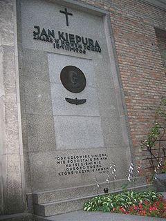 Nagrobek Jana Kiepury na Cmentarzu Powązkowskim, Warszawa, 8 lipca 2006