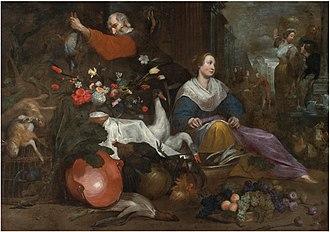 Jan Roos (painter) - City market scene