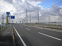 Japan National road No.352 on Kaminokawa town.jpg