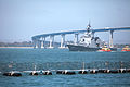 Japanese Maritime Self-Defense Force members arrive at Naval Base San Diego May 31, 2013, to participate in exercise Dawn Blitz 2013 130531-M-SE196-002.jpg