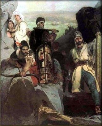Jaroslav Čermák (painter) - Image: Jaroslav Čermák Husité průsmyk bránící