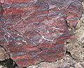 Jaspilite (Soudan Iron-Formation, Neoarchean, ~2.69 Ga; Soudan Mine, Soudan, Minnesota, USA) 7 (19031189395).jpg