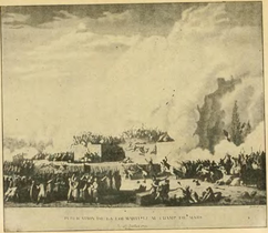 Illustration of massacre on the Champ-de-Mars, 1791.