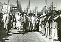 Jawaharlal Nehru greeting the workers of Hirakud Dam, Orissa.jpg