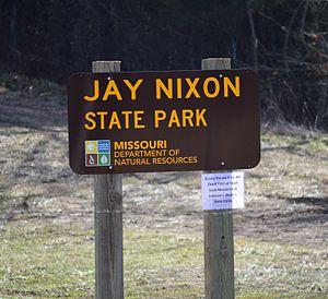 Jay Nixon State Park - Image: Jay Nixon State Park sign on Rte N 20170128 3717
