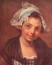 Jean-Baptiste Greuze: Head of a Young Girl in a Bonnet