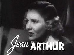 Jean Arthur in Mr. Deeds Goes To Town trailer.JPG