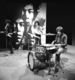 The Jimi Hendrix Experience performing for Dutch television in 1967. From left to right: Jimi Hendrix, Noel Redding, and Mitch Mitchell.