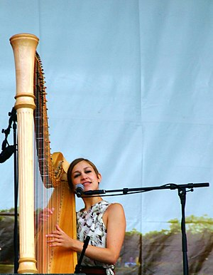 Joanna Newsom - Newsom performing at the Latitude Festival, England, 2008.