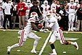 Joel Stave hand off to Melvin Gordon 2014.jpg