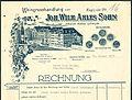Joh. Wilh. Ahles Sohn, Weingroßhandlung, Inhaber Walter Loheyde, Mittelstraße 8 Hannover Rechnungsvordruck Ausschnitt 1933.jpg