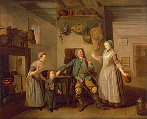 David Garrick and Mary Bradshaw in David Garrick's \