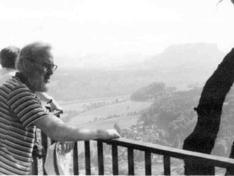 John Roycroft - John Roycroft in 1988 on a trip of a chess symposium in the Elbsandsteingebirge (Saxon Switzerland)