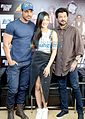 John Abraham, Shruti Haasan and Anil Kapoor promoting 'Welcome Back',2015.jpg