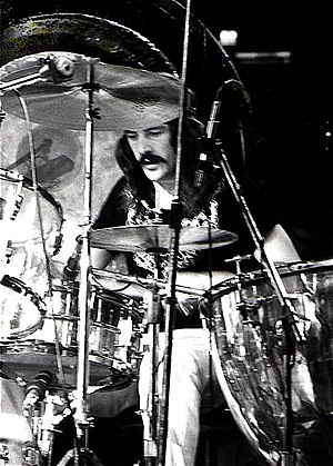 John Bonham - Bonham performing with Led Zeppelin in 1973