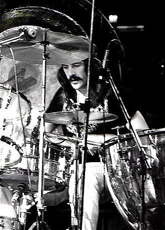 Drum kit - John Bonham of Led Zeppelin, New York City, 1973